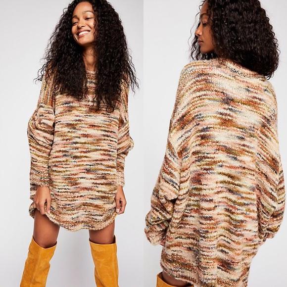 25e21caa6d Free People Sweaters   Loop Boucle Tunic Pullover Sweater   Poshmark